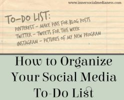 How to Organize Your Social Media To-Do List
