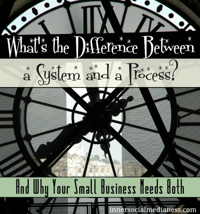 What's the difference between a system and a process - and why you need both to grow your small business. I'll walk you through the steps I took to create a process to develop one of my social media time management systems.
