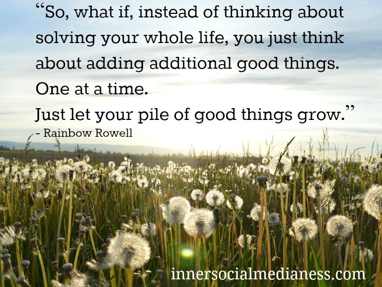 Just let your pile of good things grow