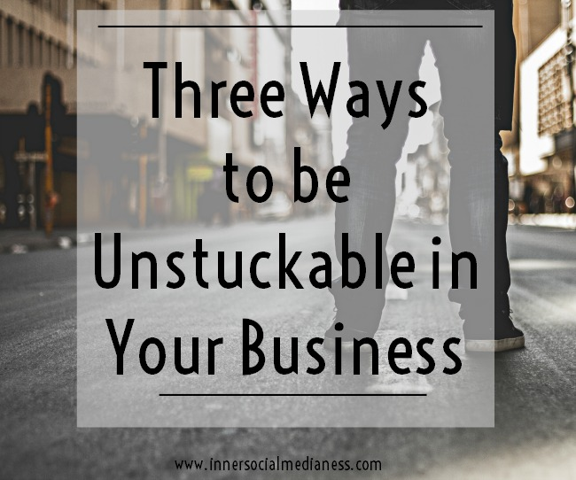 Three Ways to be Unstuckable in Your Business - If you find that you're having days where you're just stuck and don't know what to do next, take a look at these three questions { and cool solutions! } about how you can figure out how you can be unstuckable in your business.
