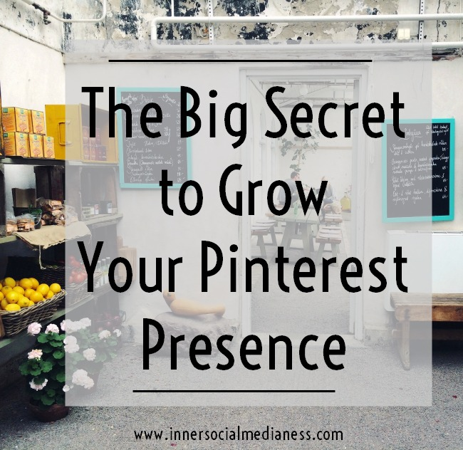 The Big Secret to Grow Your Pinterest Presence - I know that you've wondered to yourself that there has to be some steps to do this pinning stuff. There has to be a process to get more people to find your pins, click on them and go to your website. I'm here to tell you that yes ... there really is a Pinterest Process and here's how this works.