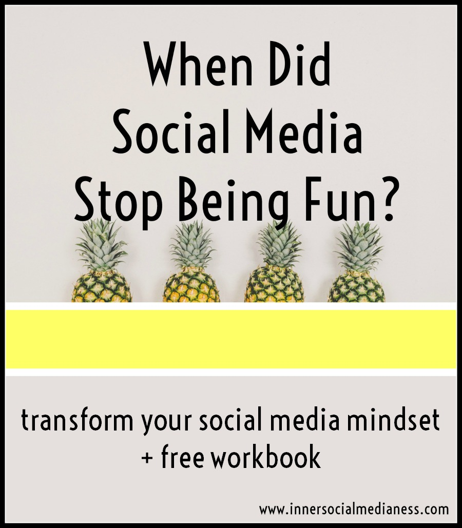 When did social media stop being fun?  If you need some motivation to get back into using social media for your business ... it starts with this workbook and just 15 minutes to bring the fun back!