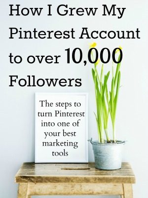 How I grew my Pinterest account