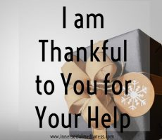 I am Thankful to You for Your Help