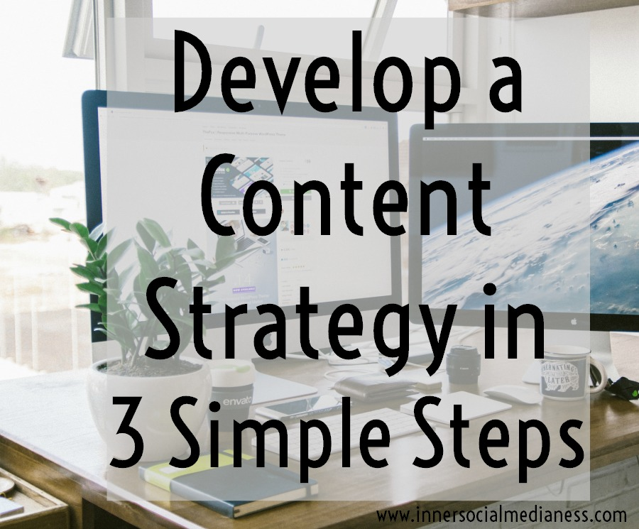 Develop a content strategy in 3 simple steps - Your goal is to share valuable content that will help your followers make their life easier, help them do something quicker or solve a problem they've thinking about for awhile. Here's 3 simple steps to make that happen.