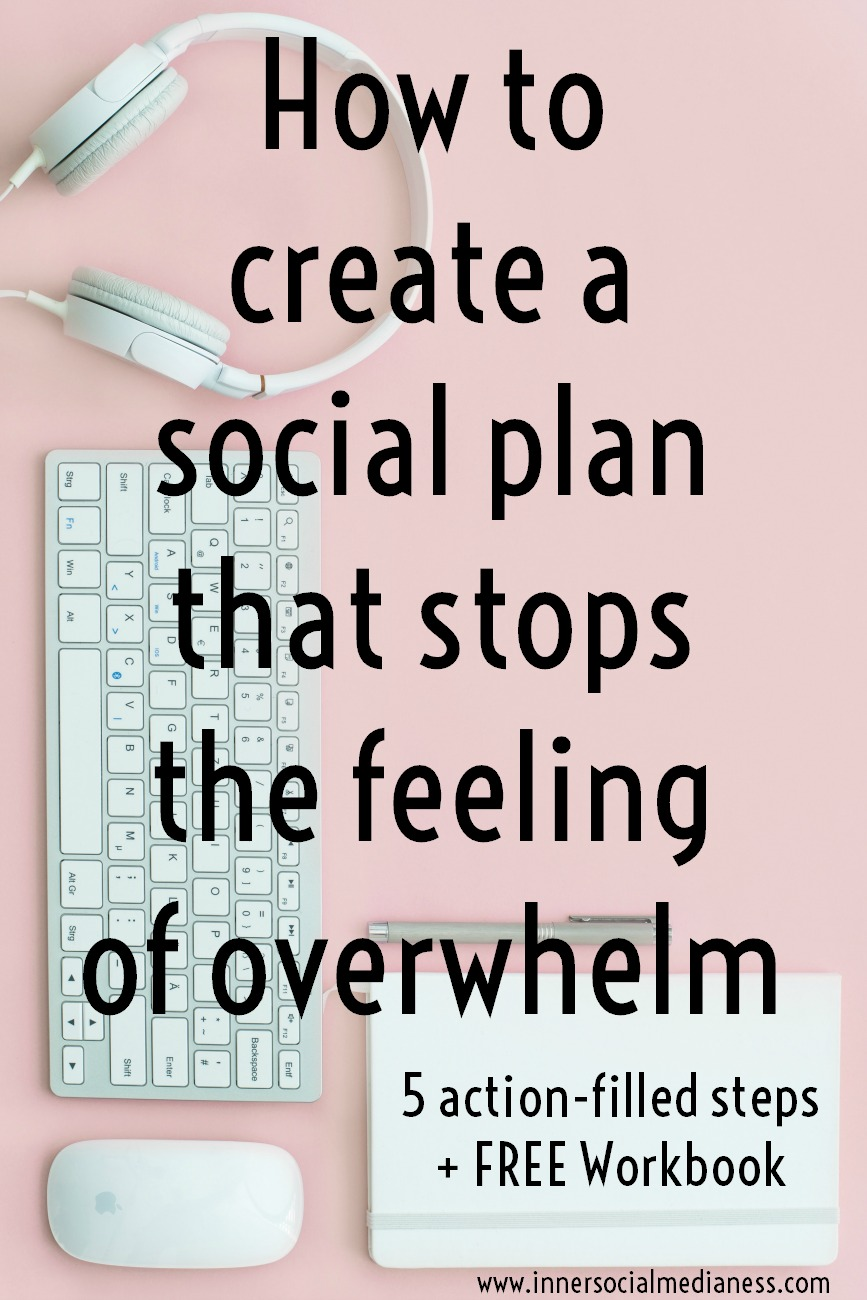 How to create a social plan that stops the feeling of overwhelm - If you want to learn a process to get more organized with what you're posting to your social sites, a process that let's you know what to post and where to post it, then get the FREE Content Strategy Program and learn how to get a social plan in place that's filled with content ideas that increases your engagement with potential customers.