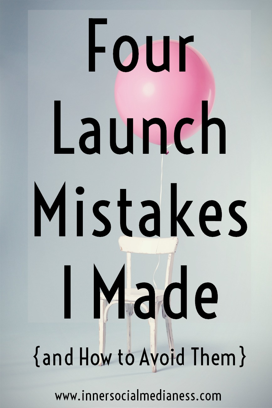 Four Launch Mistakes I Made - and How to Avoid Them! - I thought I had done everything right but my first program launch crashed and burned. But running a business or blog is a learning process so, I thought I'd share the mistakes and what I did to improve the launching process to sell out half of my Pinterest coaching program in less than an hour.