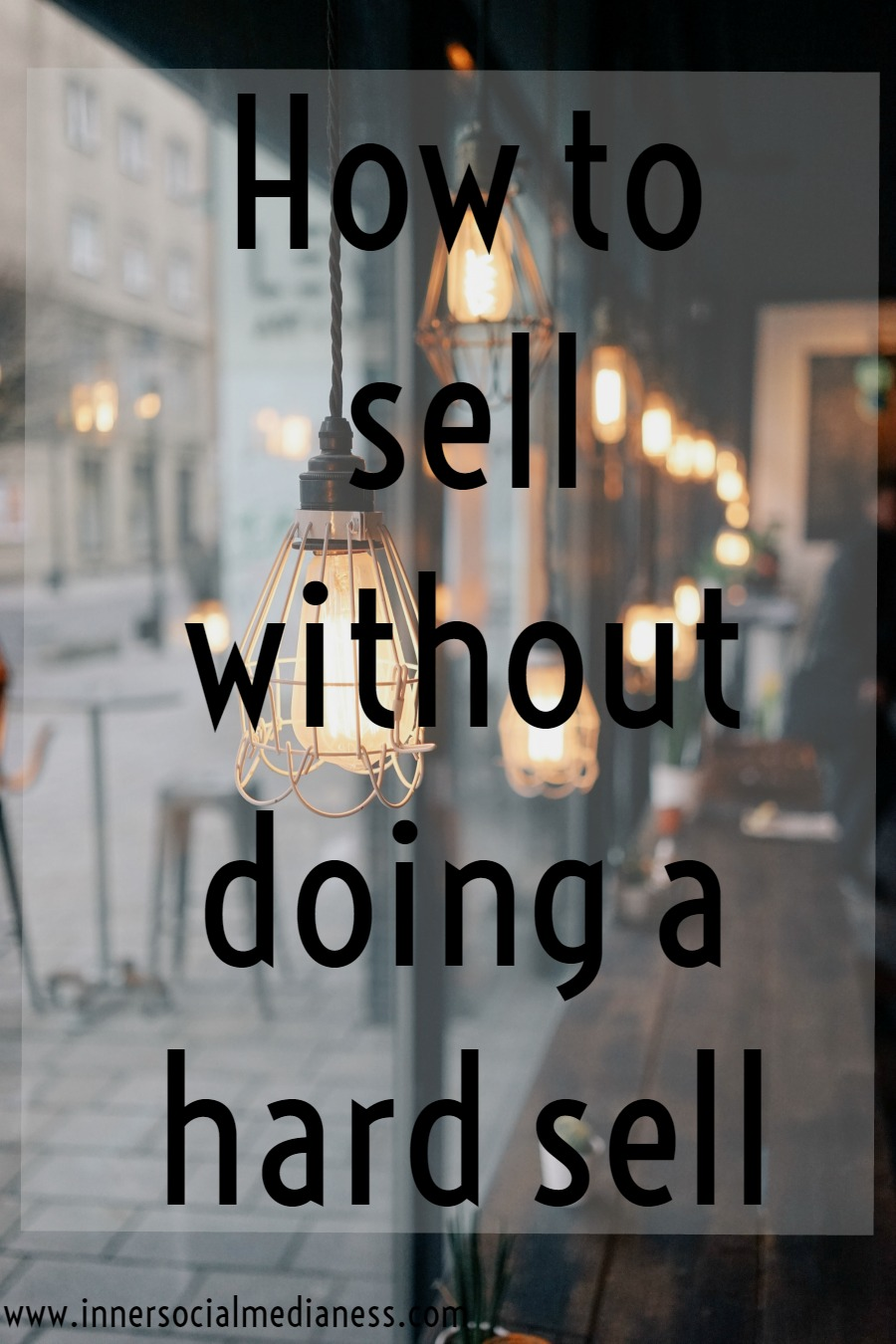 How to sell without doing a hard sell - If you want to make more sales using social media, you need to do more than just posting your latest blog post on Pinterest. You have to learn how to really truly put yourself out there to connect to more customers with these simple steps to show you how to make more sales online.