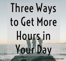 How to get more hours in your day