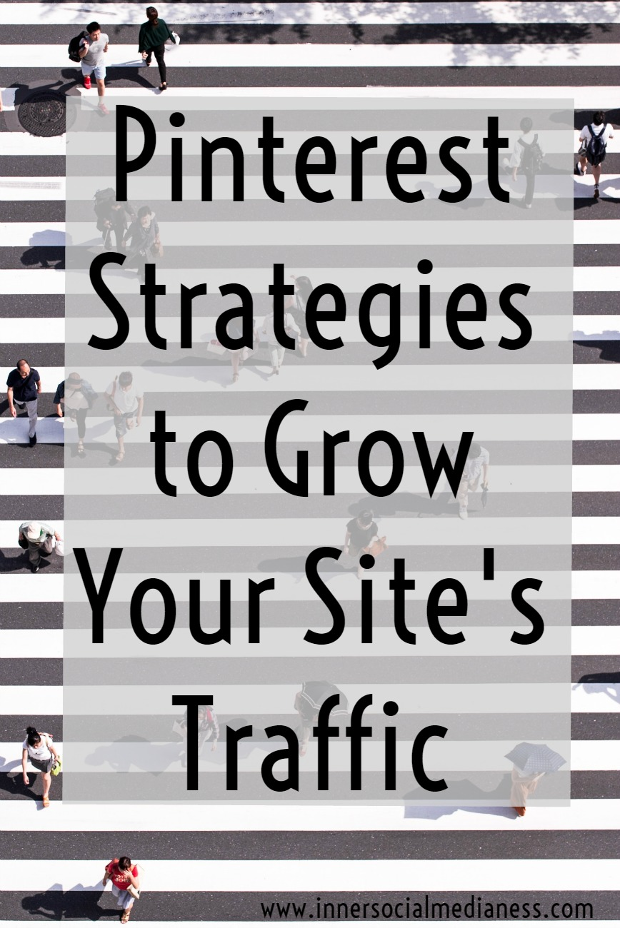 Three Pinterest Strategies to Grow Your Site's Traffic -  wondering what new Pinterest changes are coming and all the things that you've been doing to get loads of traffic are no longer in place? Other than having a mini freak-out moment, what can you do? Stop relying on schedulers, tribes and hoping that your next pin is going to go viral. And start making changes to YOUR Pinterest marketing plans that you can control.