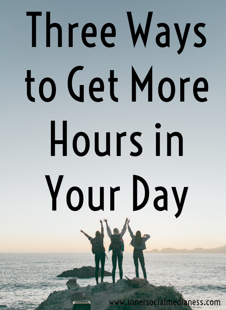Three Ways to Get More Hours in Your Day - You've got this list of all the amazing things you want to create and you're trying to figure out how you're going to find the time to get it all done. I know you've seen this problem before. This isn't anything new about being in this place except now it's finally time to find a solution to find more time. Other than hiring someone to outsource part of your work to, what else can you do to get more hours in your day?