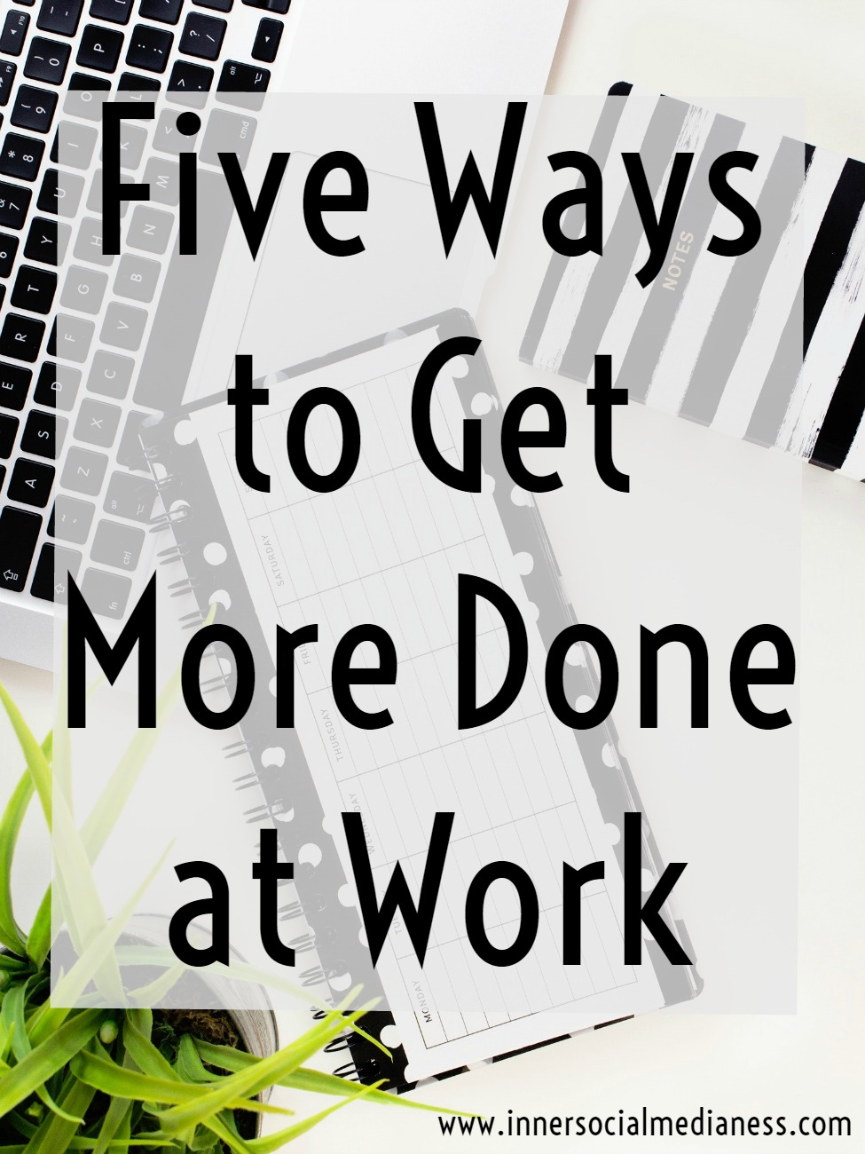 Five ways to get more done at work - when life throws you off track, what can you do to stop reacting to just getting stuff done your to-do list rather than working on the action items that will grow your business? It's not as hard as you think. Try out these five steps to learn how to get back control over your schedule.