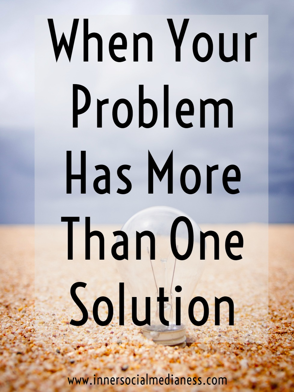 When Your Problem Has More Than One Solution - what can you do when you're stuck? Try out these creative problem-solving techniques and you'll come up with ideas you haven't thought of before – something that can help your customers do something easier, help you make you more money or a discover a new way to pull that product or program together.