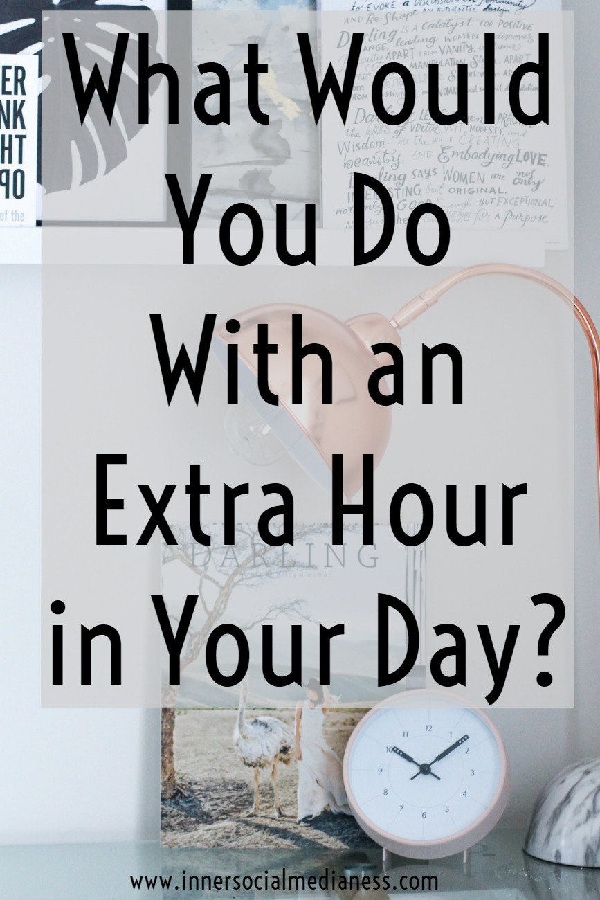 What Would You Do With an Extra Hour in Your Day? Real-life tips from a working mom on how to get more done at work, how to prioritize your life and how to be more productive.