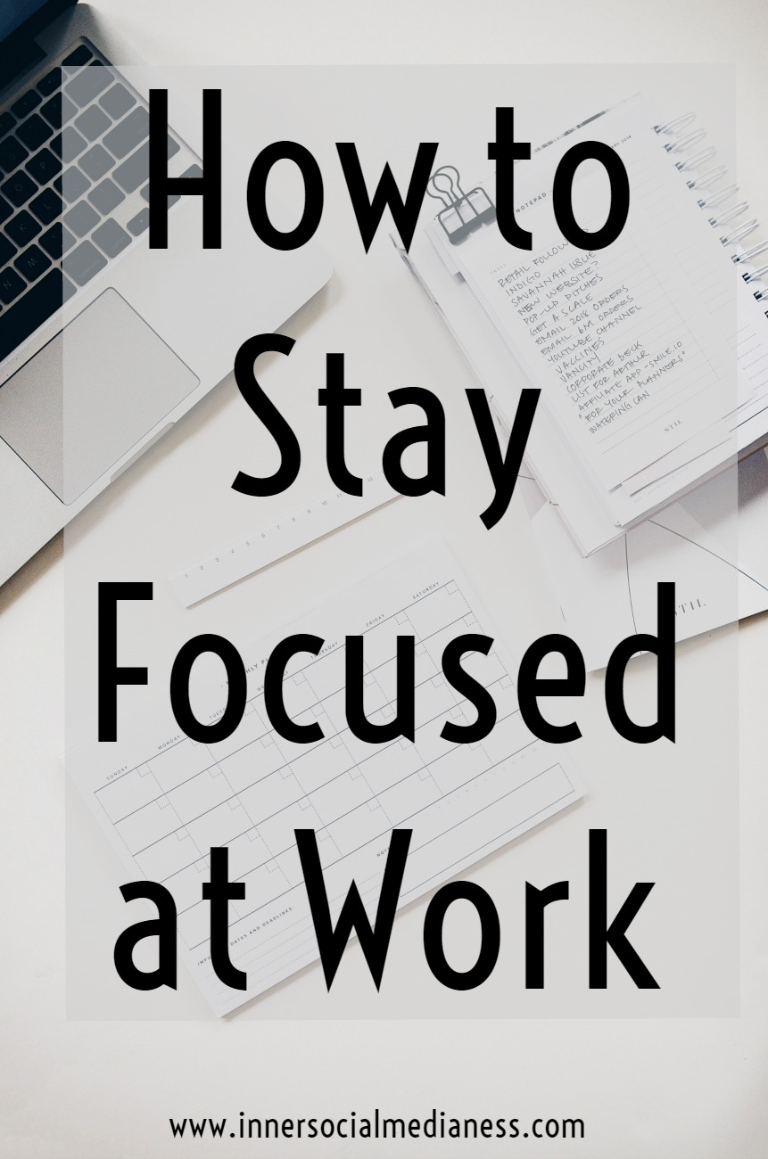 How to Stay Focused at Work - Productivity tips. How to decide what to work on next, how to stay focused and motivated. Click through to read these 7 tips and to stay focused and get more done in less time.