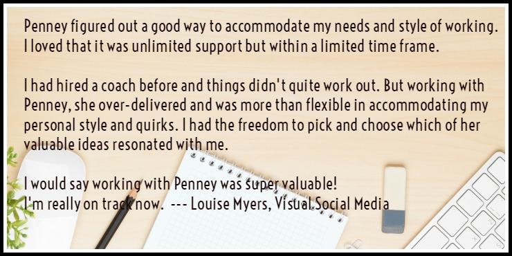Louise Myers Visual Social Media testimonial